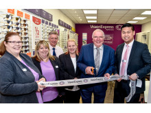 Charity ambassador joins Vision Express to officially open optical store at Tesco in Trowbridge