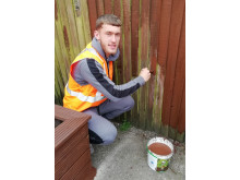 Corey Panter LTFC Flitwick gardening