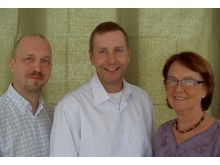 Karl Henriksson, Tomas Hansson och Monica Karlsson (KD)