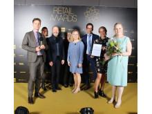 Akademibokhandeln utsedd till Årets Butikskedja på Retail Awards 2017