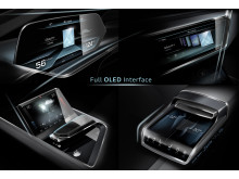 Audi e-tron quattro concept OLED-based operating and display concept