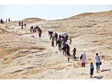 Människor på flykt från Syrien på väg att ta skydd i norra Irak