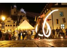 Straßen- und Lichtkünstler treten in Torgau auf