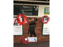 100 year Armistice commemorations at Salfords station in Surrey