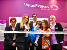Toddler fighting eye cancer joins Vision Express to officially open new optical store at Tesco in Ipswich