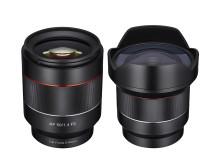 Samyang 14 & 50mm För Sony E, fullformat med autofokus