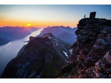 Die Sunnmørsalpen und der Hjørundfjord