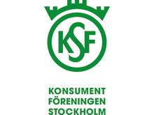 Logotyp grön, stående, Konsumentföreningen Stockholm