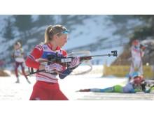 Kristina Skjevdale, skytebane, sprint ungdom kvinner, junior-vm 2016