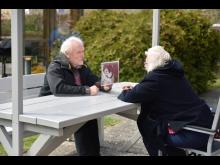 Första mötet på coronaanpassad bänk på Gustavsborg