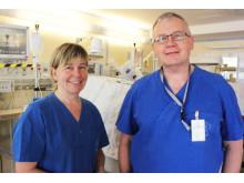 Maria Gradin och Mats Eriksson, experter på barns smärta.