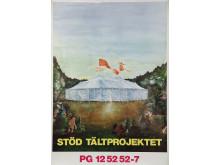 Affisch Tältprojektet. Formgivare Aja Eriksson.