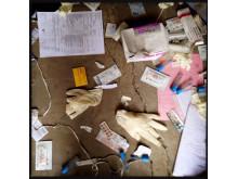 Plundring och förstörelse på sjukhuset i Leer, Sydsudan. Bild: Michael Goldfarb.