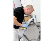 Nyt sandpapir til vådslibning af profilerede overflader