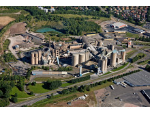 Cementas fabrik i Skövde