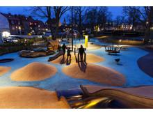 Stadsparkens generationspark, Västervik är ett av de projekt som kan vinna Svenska Ljuspriset i år.