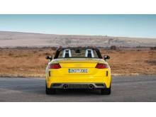 Audi TT Roadster S-line (vegasgul) statisk bagfra uden kaleche