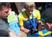 Jenny Rissveds, silver på Mountainbike-EM 2016