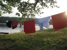 Tvättstreck med kläder