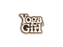 Yoga Girl black logo pin