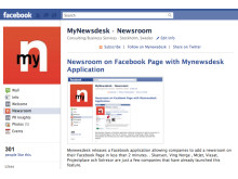 Newsroom on Facebook Page with Mynewsdesk Application