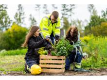 Elever på Naturbruksskolan Sötåsen i Töreboda