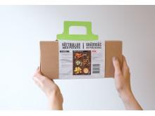 Förpackning med sleeve till ICA lansering av Middagslådan