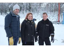 Representanter från Vaggeryds Näringslivsråd, Vaggeryds kommun och BK Åkeri