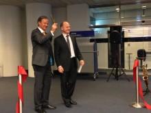 Norwegians administrerende direktør Bjørn Kjos og Thomas Woldbye, administrerende direktør i Københavns Lufthavn