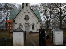 Kyrkoinvigning av Ceciliakyrkan - exteriör med Ovidiu Theodor Bancila