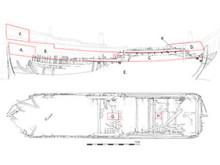 Ritning på flöjtskepp