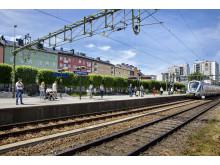 Pendeltågsstationen Sundbyberg idag