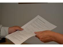 Bild på kontrakt