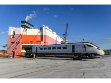 New Azuma trains arrive at UK port ahead of passenger services starting later in 2018