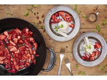 Jordbær i wok