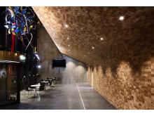 Golvtrender 2018; Kubbvägg Industry, Turnéteatret i Verdal, Norge, från Almedalsgolv