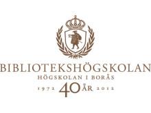 Bibliotekshögskolan 40 år - logotype
