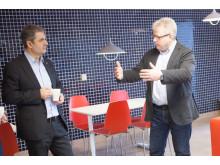 Energiminister Ibrahim Baylan och Tor Björn Minde, CEO på SICS North