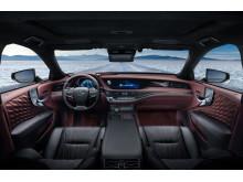 Lexus flaggskeppsmodell, fullhybriden LS 500h, interiör