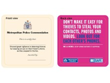 Image of the 'Be Safe' beer mat [both sides]
