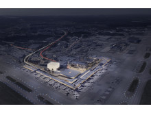 Bild: Områdesbild av det nya hotellprojektet på Helsinki Airport