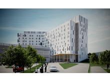 Vaasan sairaanhoitopiirin uudisrakennus otetaan käyttöön vuoden 2022 aikana. Kuva: Bothnia High 5 -allianssin kuvapankki
