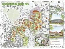 Översikt med bilder, Campusplan Lund