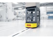 Hos Bachmann Forming AG står tre WEASEL-trucks for virksomhedens interne transport
