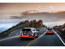 2x Audi e-tron prototype i rekuperationstest på Pikes Peak