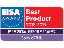 EISA Award Logo Sony a7R III dropshadow