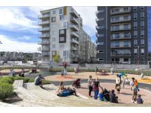 Kvillebäcken är utformade för att skapa en trivsam och dynamisk stadsmiljö.