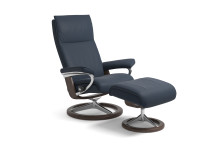 Stressless Aura Signature, Paloma Oxford Blue/Wenge