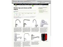 En idébok av BIMobject® med kökskranar och blandare på Houzz.com