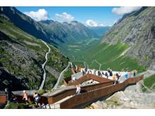 Aussichtspunkt an der Norwegischen Landschaftsroute Trollstigen